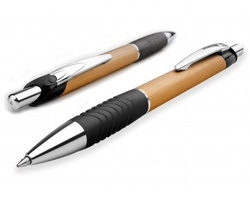 Kovové kuličkové pero MATYAS s modrou náplní - zlatá
