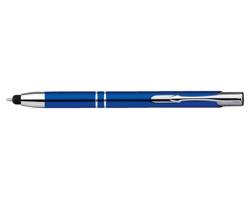 Kovové kuličkové pero OLEG TOUCH se stylusem a modrou náplní - modrá