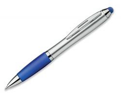 Plastové kuličkové pero ARNIE se stylusem - modrá