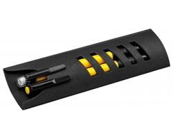 Sada kuličkového pera a mikrotužky CORPEN v papírové krabičce - žlutá