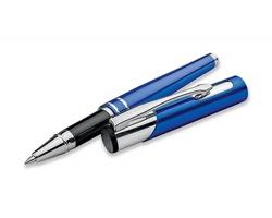 Kovové keramické pero OLEG ROLLER s modrou náplní - modrá