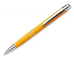 Kovové kuličkové pero Santini MARIETA SOFT s modrou náplní - žlutá