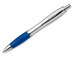 Plastové kuličkové pero CHUCK SILVER - modrá
