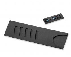 Dárková papírová krabička na pera LYRA, na 1 - 2 pera - černá