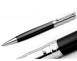 Kovové kuličkové pero Santini ELIO s klipem - černá