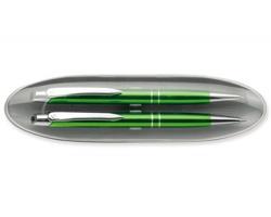 Sada kuličkového pera a mechanické tužky Santini MARIETA SET v pouzdru - světle zelená