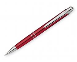 Kovové kuličkové pero Santini MARIETA METALIC s klipem - červená