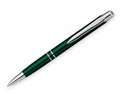 Kovové kuličkové pero Santini MARIETA METALIC s klipem - zelená