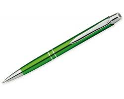 Kovové kuličkové pero Santini MARIETA METALIC s klipem - světle zelená