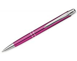 Kovové kuličkové pero Santini MARIETA METALIC s klipem - růžová