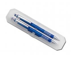 Sada kuličkového pera a mechanické tužky FUEGO SET - modrá