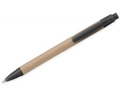 Ekologické kuličkové pero CRASTY s klipem - černá
