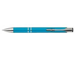 Plastové kuličkové pero OLEG PLASTIC s klipem - světle modrá