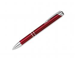 Plastové kuličkové pero OLEG PLASTIC s klipem - bordó