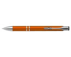 Plastové kuličkové pero OLEG PLASTIC s klipem - oranžová