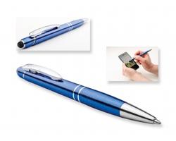 Kovové kuličkové pero Santini MARIETA TOUCH se stylusem 2 v 1 - modrá