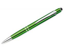 Kovové kuličkové pero Santini MARIETA TOUCH se stylusem - světle zelená