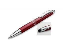 Kovové kuličkové pero Santini MARIETA STYLUS s funkcí touch pen - bordó