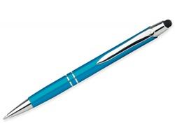 Kovové kuličkové pero Santini MARIETA STYLUS s funkcí touch pen - tyrkysová
