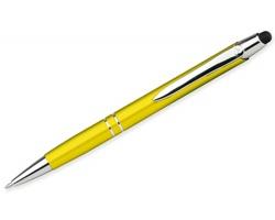 Kovové kuličkové pero Santini MARIETA STYLUS s funkcí touch pen - žlutá