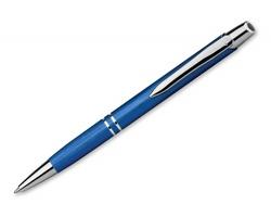 Kovové kuličkové pero MARIETA BRUSH s modrou náplní s nízkou viskozitou - modrá