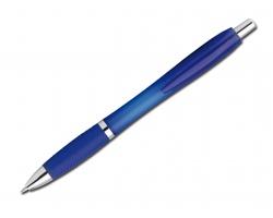 Plastové kuličkové pero DARBY FROSTY s klipem - modrá