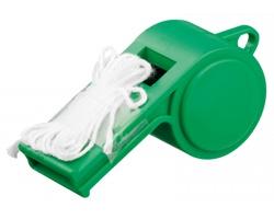 Plastová píšťalka ARBITER s textilní šňůrkou - zelená