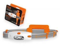 Značková plastová LED čelovka Lenser NEOLAMPY s výdrží až 10 hodin - oranžová