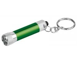 Kovová LED svítilna LAMP s kroužkem na klíče - zelená