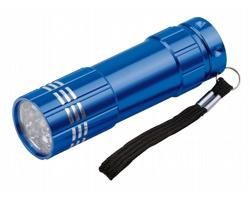 Kovová LED svítilna MILDRED s poutkem - modrá