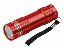 Kovová LED svítilna MILDRED s poutkem - červená