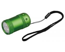 Kovová LED svítilna PERIDE s 6 diodami - světle zelená