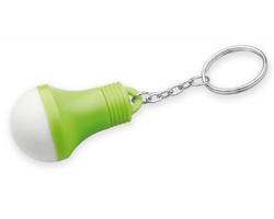 Plastový přívěsek na klíče LED svítilna GLOAMIN ve tvaru žárovky - světle zelená