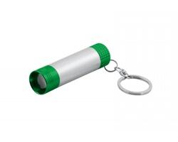 Plastový přívěsek na klíče LED svítilna LOGOLIT s podsvitem gravírovaného loga - světle zelená