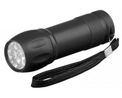 Plastová LED svítilna AVIOR s poutkem - černá