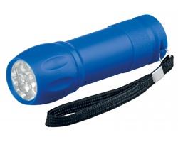 Plastová LED svítilna AVIOR s poutkem - nebesky modrá