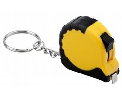 Plastový metr MATHEUS s kroužkem na klíče, 1m - žlutá