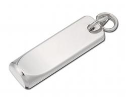 Kovový přívěsek na zip TAIL - saténově stříbrná