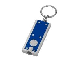 Plastová LED svítilna HUDSON s kroužkem na klíče - modrá
