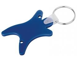 Plastový přívěsek na klíče s organizérem na sluchátka DUMMY - modrá