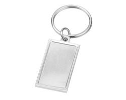 Barevný kovový přívěsek na klíče PENELOPE - saténově stříbrná