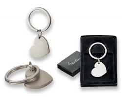 Kovový přívěsek ve tvaru srdce Santini KINDLY v dárkové krabičce - saténově stříbrná
