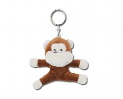 Plyšový přívěsek na klíče MONKEY ve tvaru opičky - hnědá