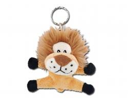Plyšový přívěsek na klíče TIMON ve tvaru lva - světle hnědá