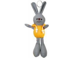 Reflexní přívěsek na klíče MATTY ve tvaru zajíce - žlutá