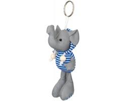 Reflexní přívěsek na klíče DUENA ve tvaru slona - modrá