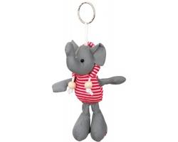 Reflexní přívěsek na klíče DUENA ve tvaru slona - červená