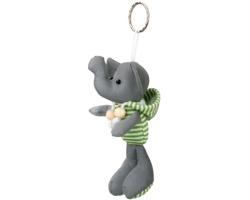 Reflexní přívěsek na klíče DUENA ve tvaru slona - světle zelená