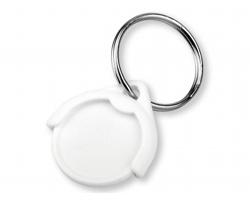 Plastový přívěšek na mince CATCH CZ s žetonem - bílá