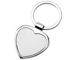 Kovový přívěsek AMOR ve tvaru srdce - saténově stříbrná